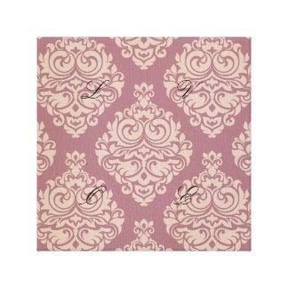 rosa rústico, marrón, coralino, damascos, lona envuelta para galerías