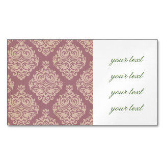 rosa rústico, marrón, coralino, damascos, tarjetas de visita magnéticas (paquete de 25)