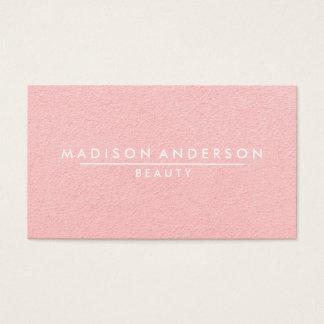 Rosa simple y clásico moderno de la belleza tarjeta de negocios