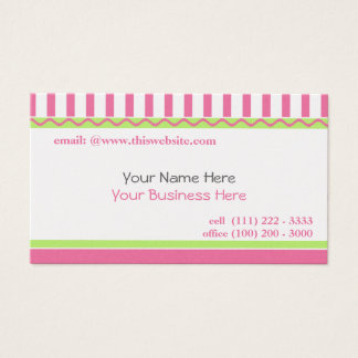 Rosa simple y dulce tarjeta de visita