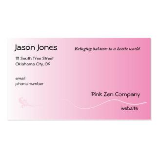 Rosa sombreado con la línea de la flor de lis tarjetas de visita
