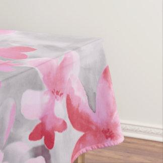 Rosa suave floral japonés de los colores del manteles