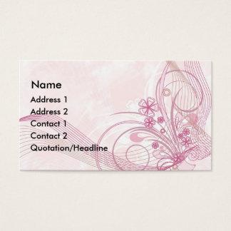 rosa tarjeta de negocios