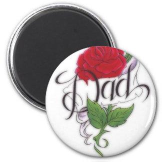 Rosa-Tatuaje-Papá Imán Redondo 5 Cm