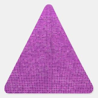 rosa tejido del neón de la estructura pegatina triangular
