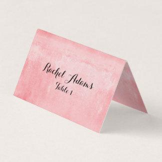 Rosa texturizado casando la tarjeta del lugar