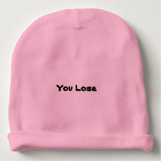 "rosa ""usted pierde"" la gorrita tejida gorrito para bebe"
