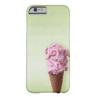 Rosa verde del helado - diversión - iPhone 6/6s Funda Barely There iPhone 6