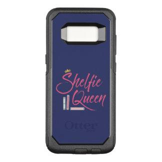 Rosa y azul de la reina de Shelfie del aficionado Funda Otterbox Commuter Para Samsung Galaxy S8