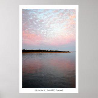 rosa y azul, Hilton Head Island, SC - noviembre… Impresiones