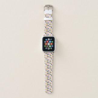 Rosa y banda de reloj de Apple del modelo de lunar