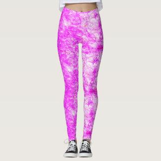 rosa y blanco leggings