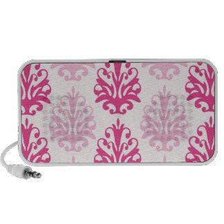 Rosa y damasco rosado oscuro de la moda del boho PC altavoces