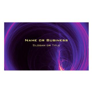 Rosa y diseño abstracto circular púrpura tarjetas de visita