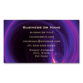 Rosa y diseño abstracto circular púrpura tarjetas de visita magnéticas (paquete de 25)