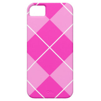 Rosa y Fuschia Argyle iPhone 5 Case-Mate Carcasas