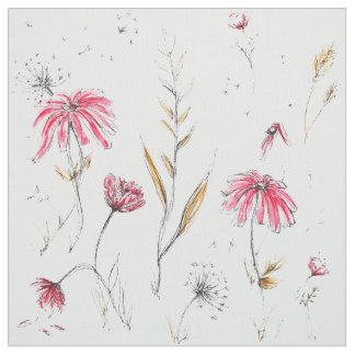 Rosa y mostaza de los Wildflowers Tela