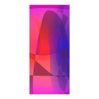 Rosa y mundo abstracto azul tarjeta publicitaria
