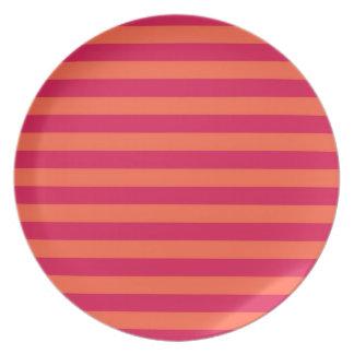 rosa y naranja platos
