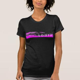 Rosa y negro T del sur Camisetas