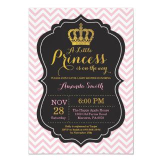 Rosa y oro de la invitación de la princesa fiesta