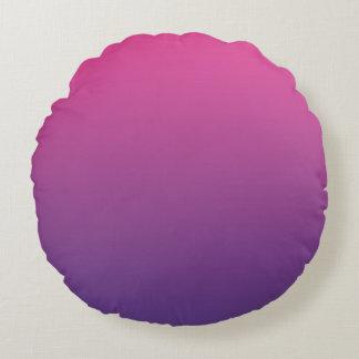 Rosa y púrpura cojín redondo