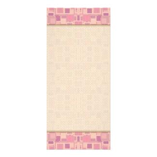 Rosa y revoltijo geométrico de la crema tarjetas publicitarias a todo color