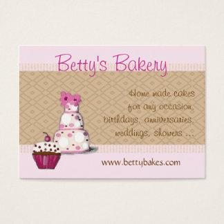 Rosa y tarjeta de visita de la panadería de Brown