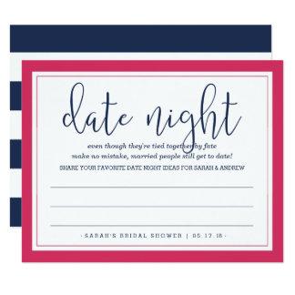Rosa y tarjeta nupcial de la noche de la fecha de invitación 10,8 x 13,9 cm