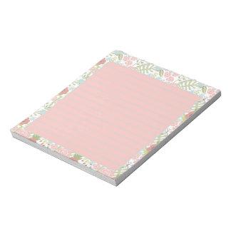 Rosa y trullo florales bloc de notas