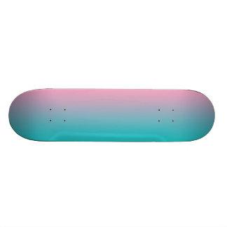 Rosa y turquesa Ombre Tablas De Skate