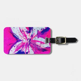 rosado-ciudad etiqueta para maletas