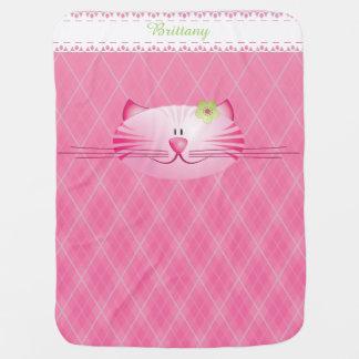 Rosado la manta del bebé del gato