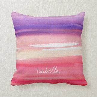 Rosado moderno personalizada/coral/púrpura cojín decorativo