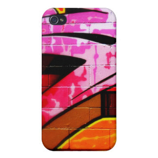 Rosado urbano de la pintada iPhone 4 protectores