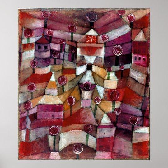 Rosaleda de Paul Klee Póster