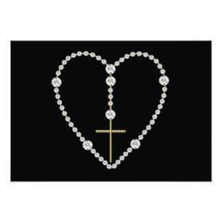 Rosario del diamante - saludo Maria por completo d Comunicados Personalizados