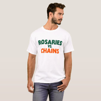 Rosarios contra la camiseta de los bastones
