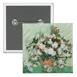 Rosas, 1890 (aceite en lona) chapa cuadrada 5 cm