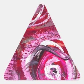 Rosas abstractos pegatina triangular