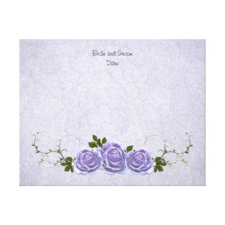 Rosas alternativos de la lavanda del libro de impresión en lona