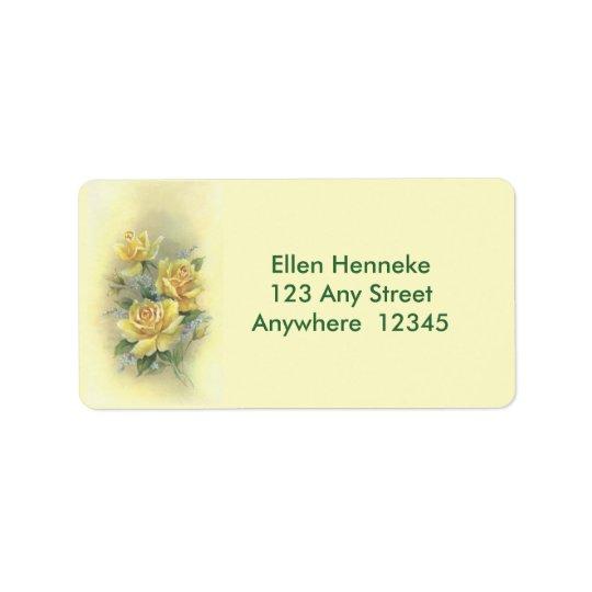 Rosas amarillos etiquetas de dirección