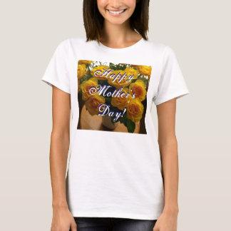 Rosas amarillos felices del día de madre camiseta