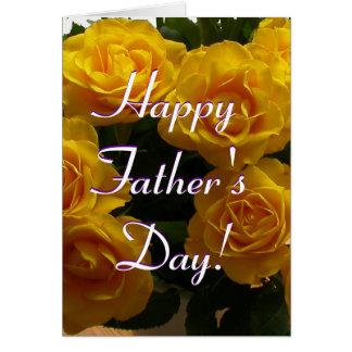 Rosas amarillos felices del día de padre I Tarjeta De Felicitación