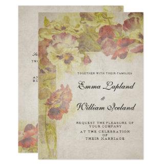 Rosas antiguos del vintage que casan la invitación