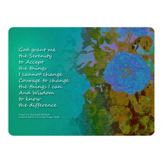 Rosas azules 2 del rezo de la serenidad invitación 16,5 x 22,2 cm