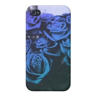 Rosas azules iPhone 4 coberturas