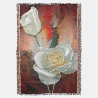 Rosas blancos manta