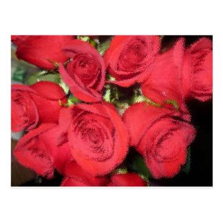 Rosas con el cepillo seco II.jpg Postal
