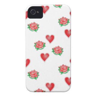 Rosas corazones de roses hearts iPhone 4 cárcasa